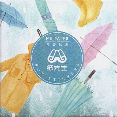 Stickers - Coats & Umbrellas (40pcs box)