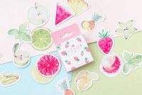 Stickers - Summer Fruit Strawberries (45pcs box) (NEW)