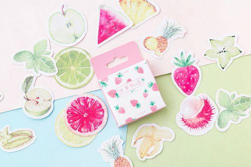 Stickers - Summer Fruit Strawberries (45pcs box) (NEW)