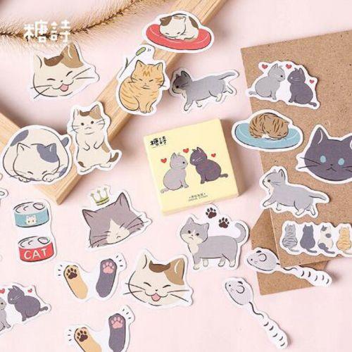 Stickers - Cat Friends (45pcs box) (NEW)