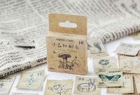 Stickers - Vintage Stamps (46pcs box) (NEW)