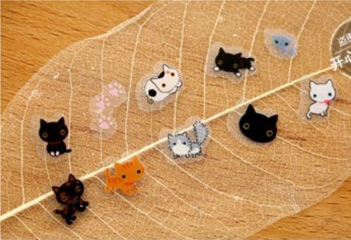 Stickers - Tiny Cats PVC (80pcs bag) (NEW)