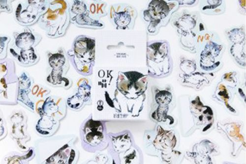Stickers - OK Meow! Cute Kittens (45pcs box)