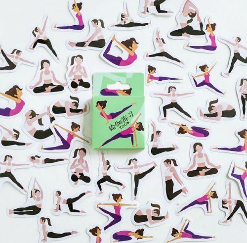 Stickers - Yoga (45pcs box) (NEW)