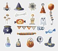 Stickers - Bag - Halloween Magic Day (40pcs) (NEW)