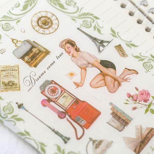 Stickers - Retro Girl Pin-Ups (5 sheets)