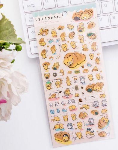 Stickers - Bread Cat Green (80+pcs)