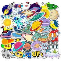 Stickers - Bag Alien UFO Astronaut (50pcs) (NEW)