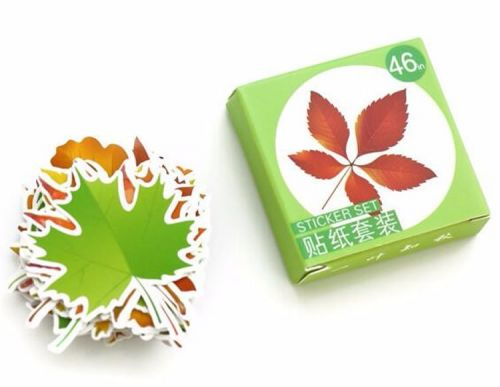 Stickers - Autumn Leaves (46pcs box)