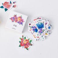Stickers Box Flowers Roses Daffodils (45pcs) (NEW)