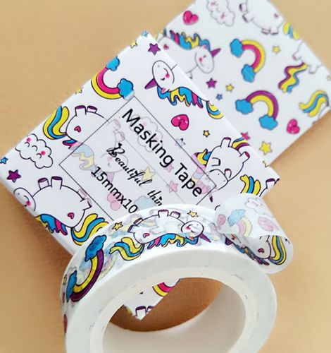 Washi Tape - Unicorns and Rainbow (15mm x 10m)