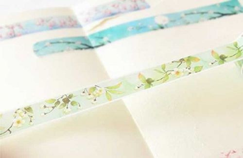 Washi Tape - White Blossom (15mm x 7m)