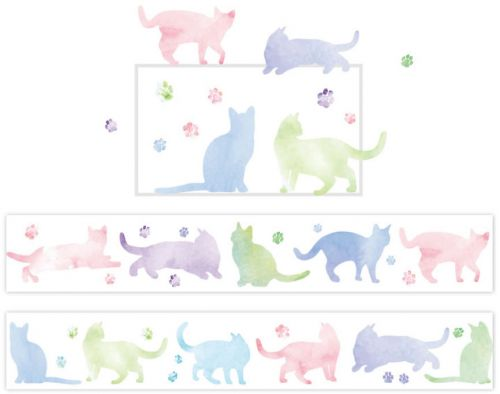 Washi Tape - Pastel Cats (25mm x 7m)