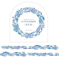 Washi Tape Roll Blue Fish (5mm x 7m) (NEW)