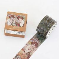 Washi Tape - Mucha - Emerald & Topaz (30mm x 7m) (NEW)