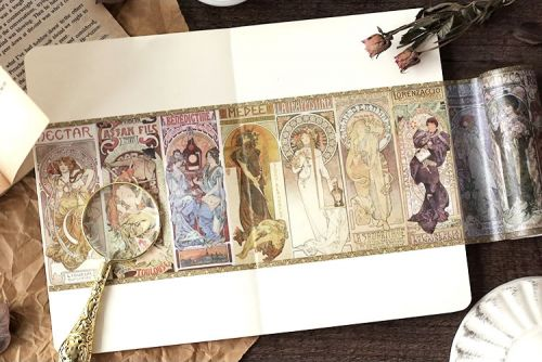 Washi Tape - Mucha Phantom of the Opera (100mm x 5m) (NEW)