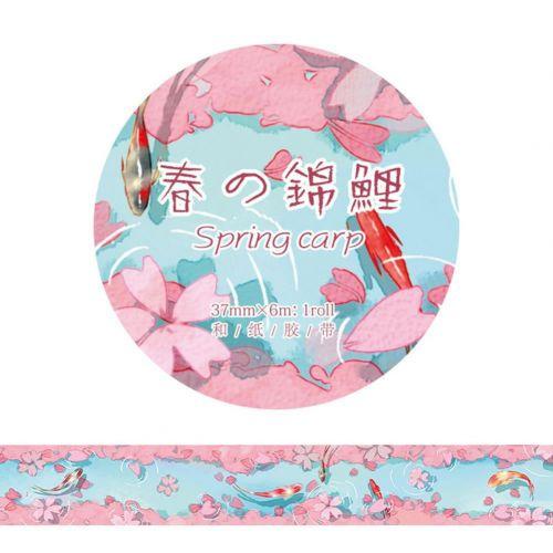 Washi Tape - Koi Spring Carp (37mm x 6m) (NEW)