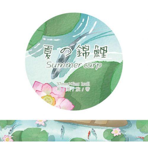 Washi Tape - Koi Summer Carp (37mm x 6m)