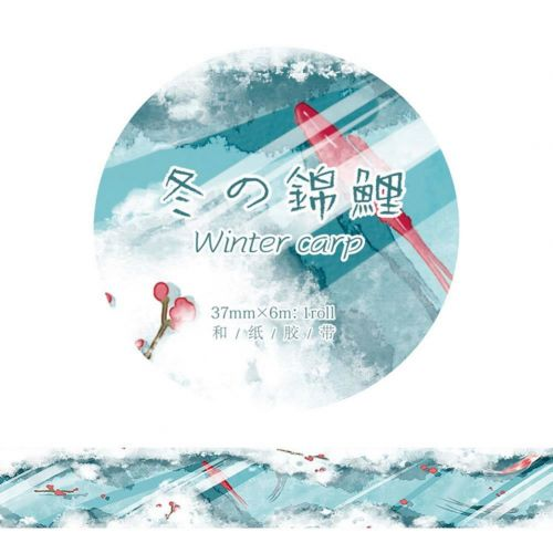 Washi Tape - Koi Winter Carp (37mm x 6m) (NEW)