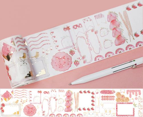 Washi Tape - Strawberry Party Wide (70mm x 5m)