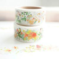 Washi Tape - Washi Tape Roll Birds Koi Flowers (20mm x 7m) (NEW)