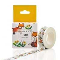 Washi Tape - Little Fox and Flowers (15mm x 10m)