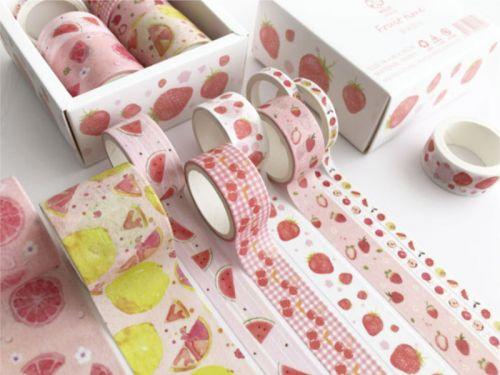 Washi Tape - Strawberry and Fruit (8 rolls) (NEW)
