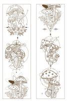 Washi Tape- Four Seasons Mushrooms (50mm x 3m) (NEW)