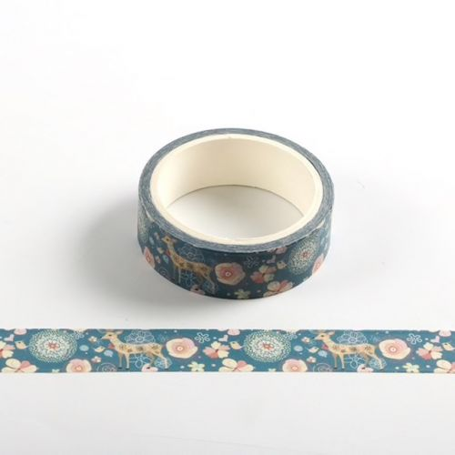 Washi Tape - Reindeer & Flowers - PANDA (15mm x 5m)