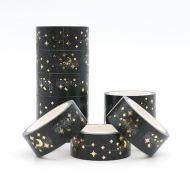 Washi Tape Roll Gold Stars Moon  (15mm x 5m) (NEW)