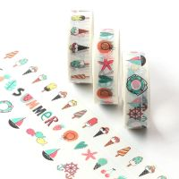 Washi Tape - 3 Rolls Ice Cream Summer Boats - PANDA (15mm x 5m)