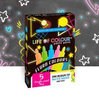 Life of Colour - Fluro Colours Pack Paint Pens - Medium Tip (3mm)