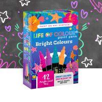 Life of Colour - Bright Paint Pens - Medium Tip (3mm) (NEW)