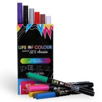 Life of Colour - Classic Colour Paint Pens - Fine Tip (1mm)