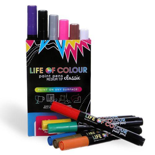 Life of Colour - Classic Colour Paint Pens - Medium Tip (3mm)