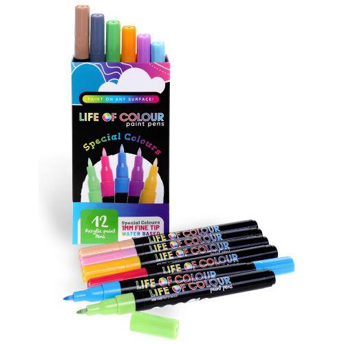 Life of Colour - Special Colours Paint Pens - Fine Tip (1mm)