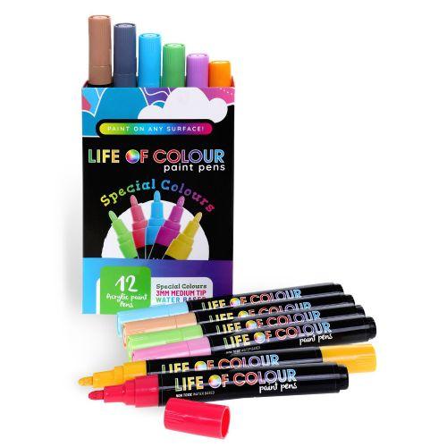 Life of Colour - Special Colours Paint Pens - Medium Tip (3mm)