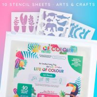 Life of Colour - Card Making and Rock Painting Stencil Pack (10 sheets)