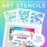 Life of Colour - Card Making and Rock Painting Stencil Pack #2 (10 sheets)