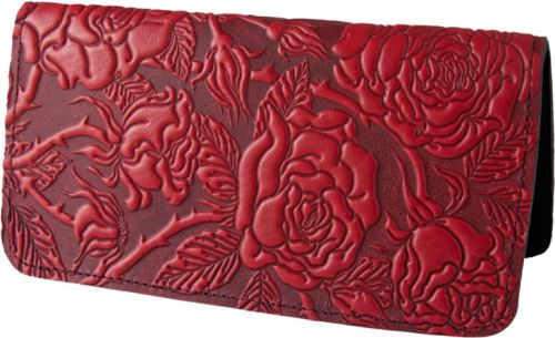 Wild Rose - Leather Smartphone Wallet - Red