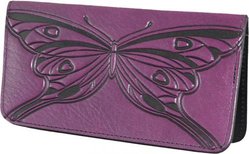 Butterfly - Leather Smartphone Wallet - Orchid
