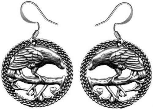 Earrings - Raven