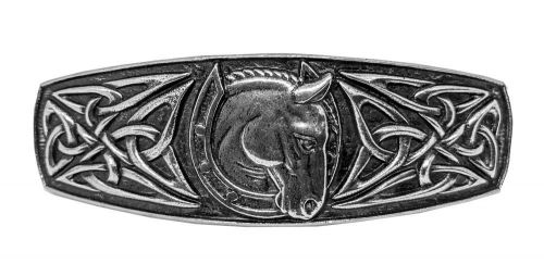 Hair Clip / Barrette - Celtic Horseshoe 80mm