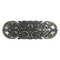Hair Clip / Barrette - Celtic Peacock 70mm