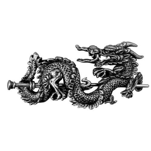 Hair Barrette - Pearl Dragon Stick