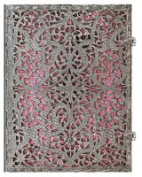 Paperblanks Silver Filigree Blush Pink Ultra LINED (RARE)