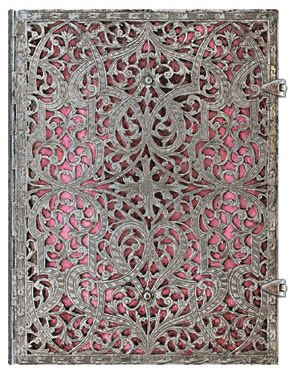 Paperblanks Silver Filigree Blush Pink Ultra LINED