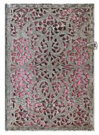 Paperblanks Silver Filigree Blush Pink Midi LINED