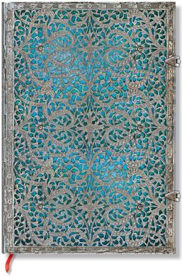 Paperblanks Silver Filigree Maya Blue Grande UNLINED (BO2U)