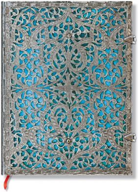 Paperblanks Silver Filigree Maya Blue Ultra LINED (BO3L)